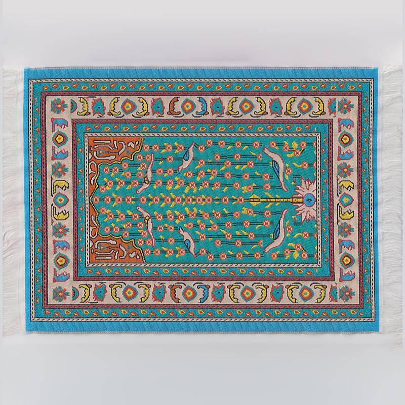TeppichTeppichboden  Teppich, blau gemustert