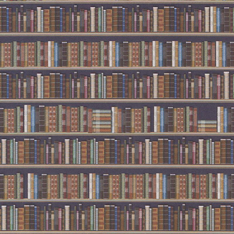 Tapete Bucher Bibliothek Din A