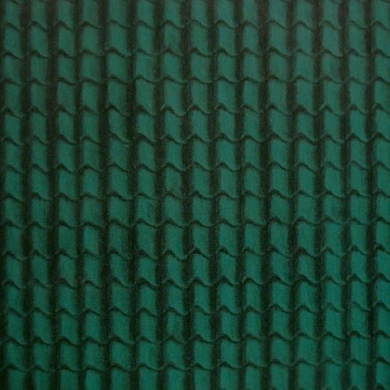 Tapete Dachpfannen grün, grosser Bogen