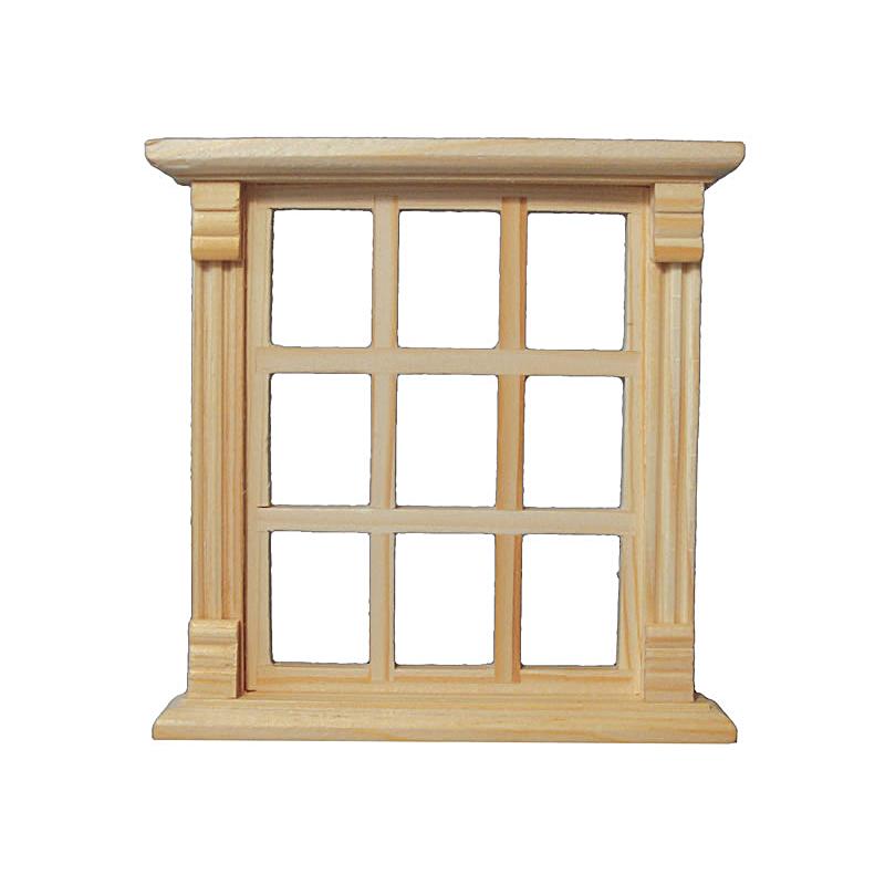 Sprossen fenster 9 teilig natur leipziger puppenkiste for Fenster 3 teilig